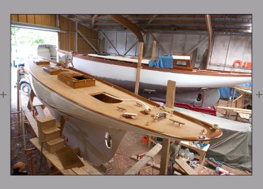 Fyne being built at the Hubert Stagnol shipyard