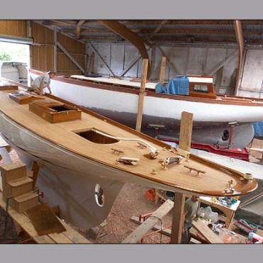 Fyne being built at the Hubert Stagnol shipyard
