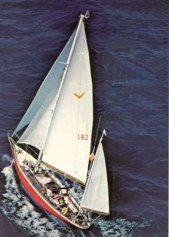Iolaire racing in the BVI's in 1980