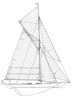 Pen Duick line drawing