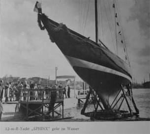 The last 12-Metre to be built at A&R in 1939 - Sphinx