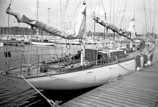 Renamed Acteon with her ketch rig