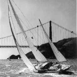 Sonic sailing in San Francisco Bay