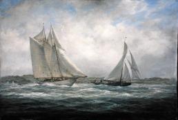 Aello Beta and Marigold off the Isle of Wight, 2005