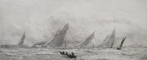Yacht racing on the Solent