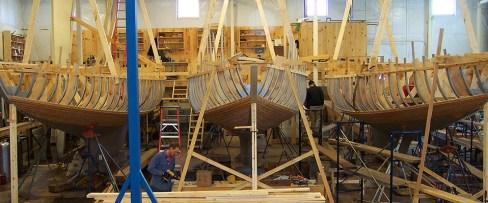 Little Miss, Wachiwi & Quakeress II undergoing restoration in 2008
