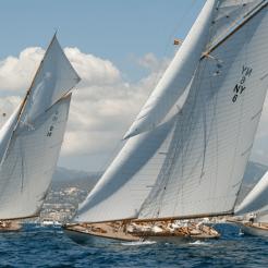 The Lady Anne, Spartan and Hispania in the 2016 Club de Mar regatta.