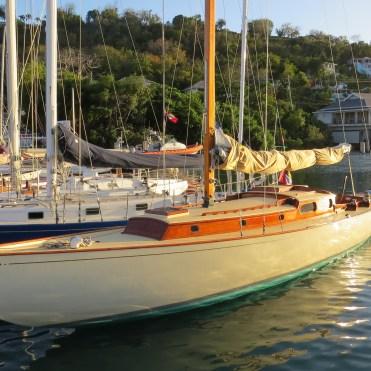 Janley berthed in Antigua, 2016
