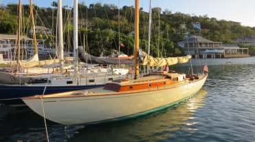 Janley berthed in Antigua, 2016