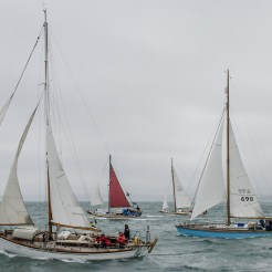 At the Start of Dartmouth to Paimpol Cross Channel Race 2015
