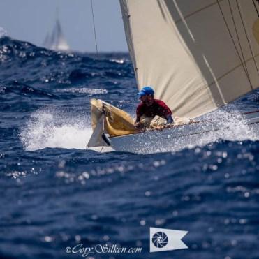 Seefalke II sailing in the Antigua Classic Yacht Regatta, Windward Race, 2017. - Cory Silken