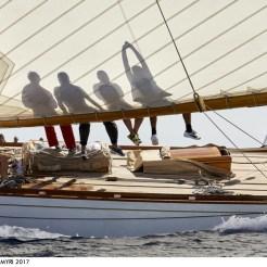 Laurent Thareau - The 15-Metre Hispania, Les Voiles de St Tropez.