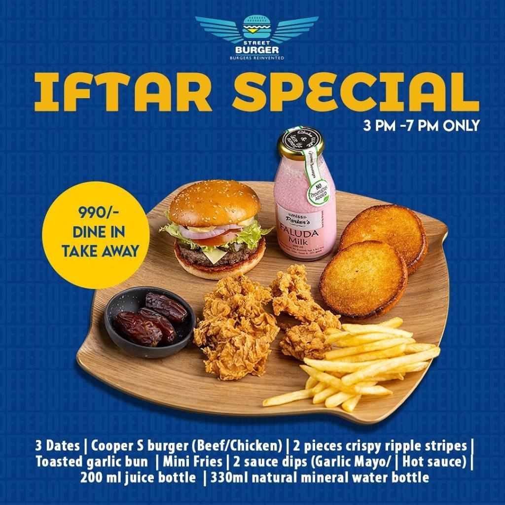 Street Burger Iftar Special
