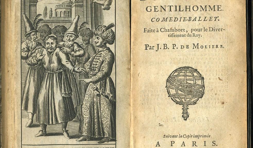Exemplaire ancien de la pièce de Molière : Le Bourgeois Gentilhomme