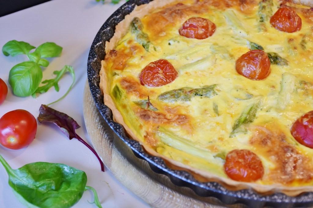 Quiche tomates fromage et asperges