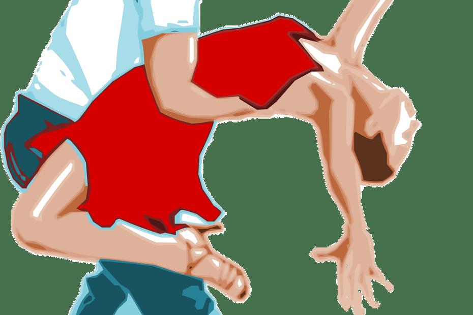 Dessin de danseurs et danseuses salsa