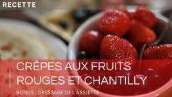 Recette crêpe fruits rouges