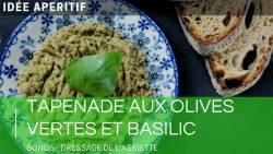 Tapenade verte aux olives et basilic