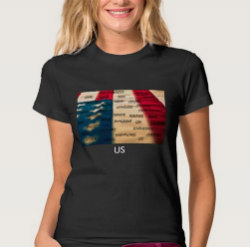 ClassofHC US American Flag Womens Tee