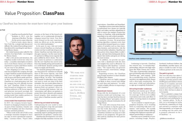 ClassPass CEO Fritz Lanman Talks Growth and Innovation with IHRSA