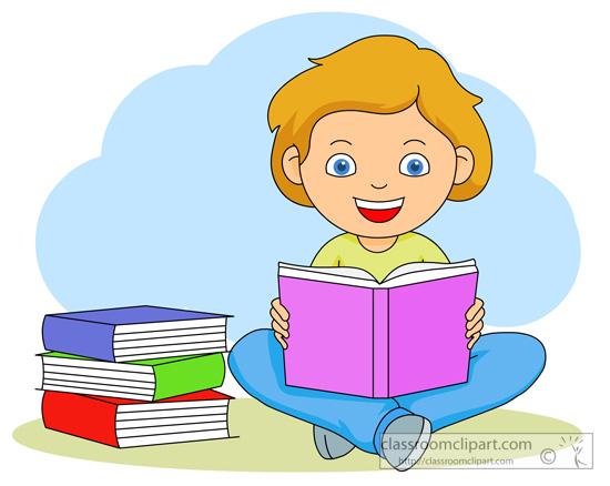 Book Clipart Clipart- Girl_reading_a_book_1127