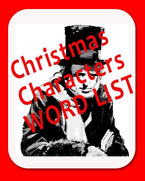 Christmas Characters Word List