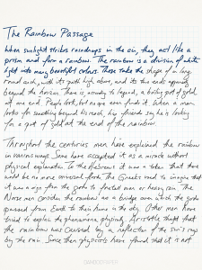 Hand written note using the Bamboo Paper iPad app