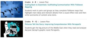 Online Resource: ReadWriteThink for Lesson Plans & Reading Passages