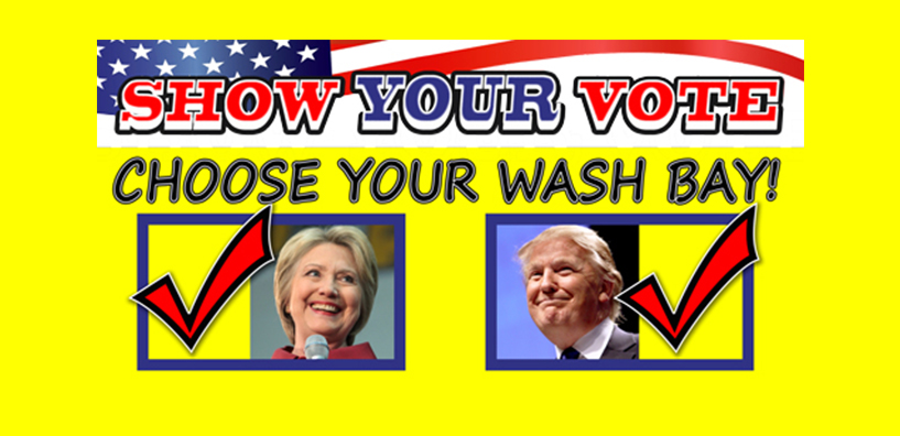 Vote with your car wash
