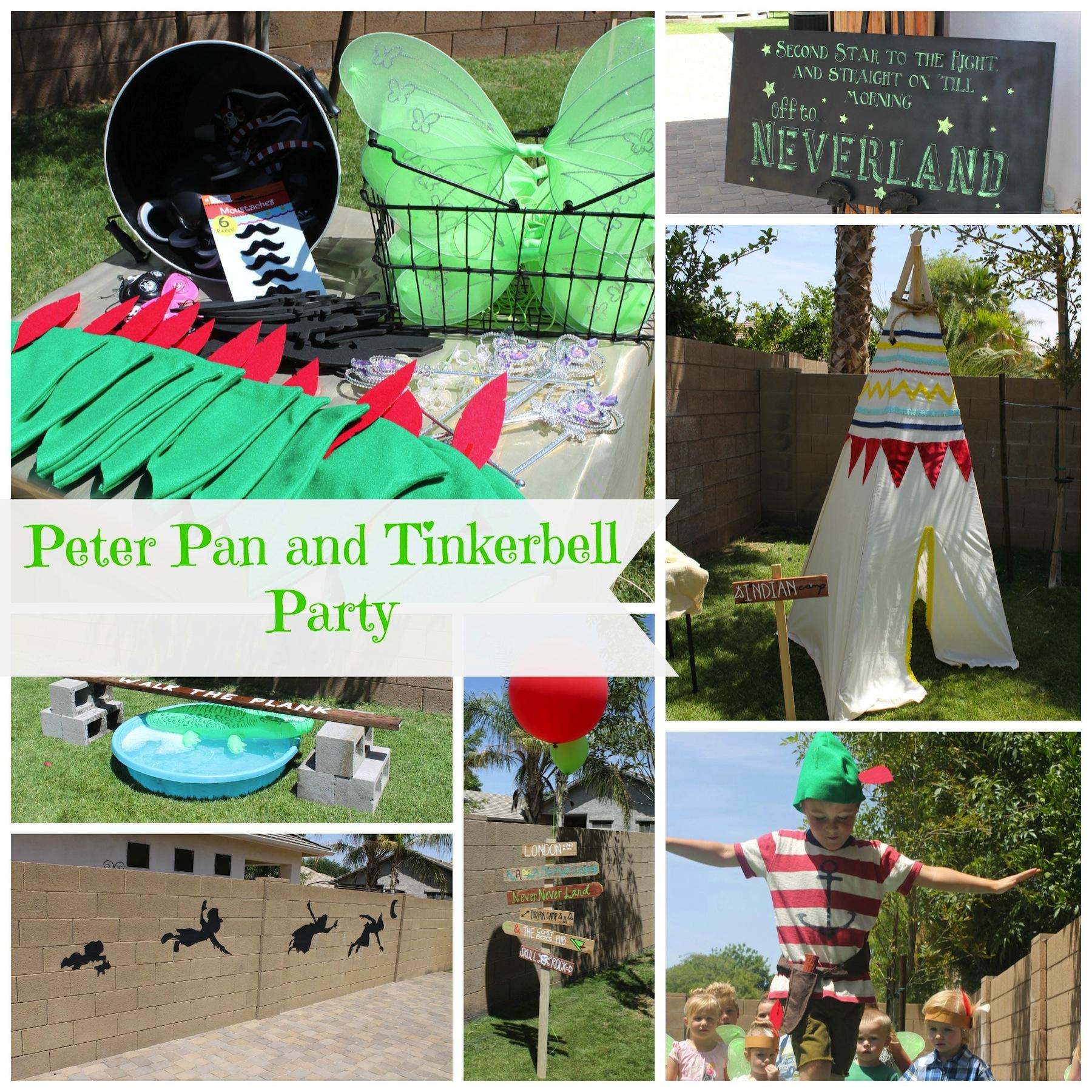Resultado de imagen para tinkerbell y peter pan party