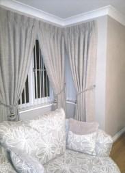 Tripple pleat curtains and tie backs