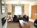 Pelmet, curtains and cushions