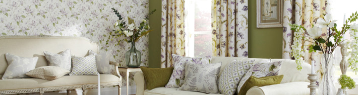 cushions, wallpaper, fabric
