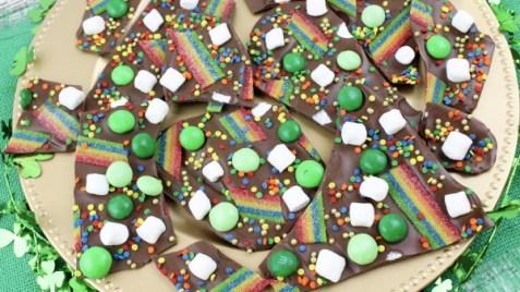 Best Leprechaun Bark Recipe for St Patrick's Day