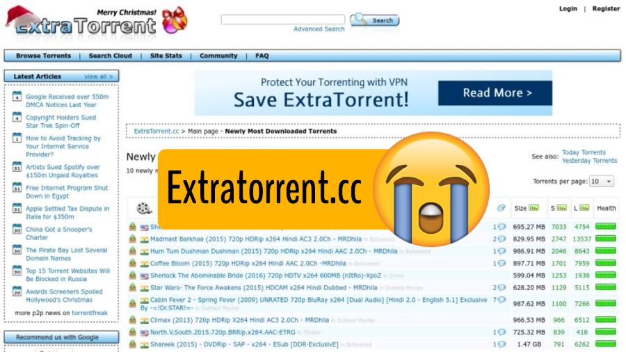 extratorrent is not running - best extratorrent proxy and alternatives
