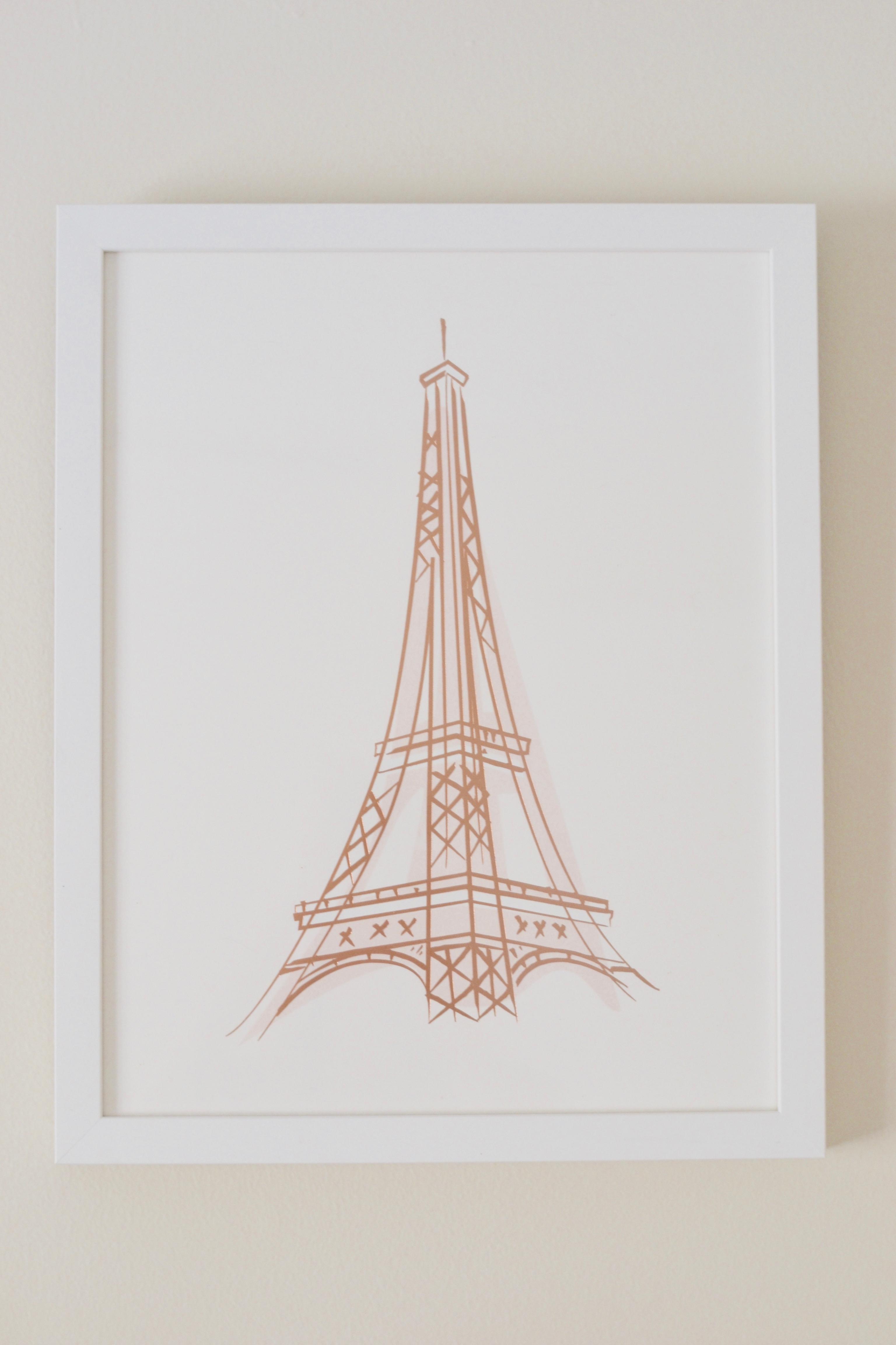 Minted Eiffel Tower framed print