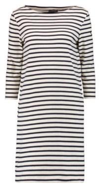 DRESS white black stripe dress