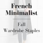 French Minimalist Fall Wardrobe Staples (Trendy Wednesday #91)