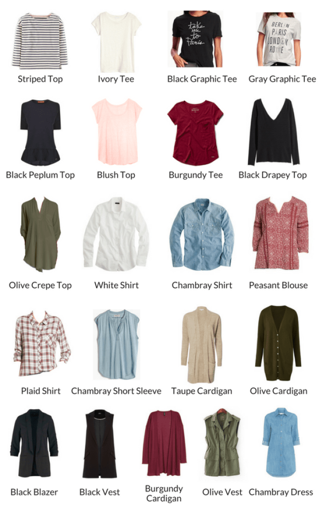 TOPS AND DRESSES FALL 2016 CAPSULE WARDROBE