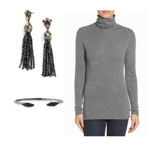 Sweater with Jewelry - Outfit #5
