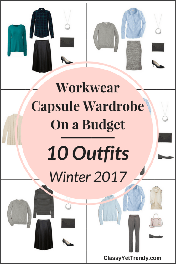 Workwear Capsule Wardrobe On a Budget- 10 Winter Outfits