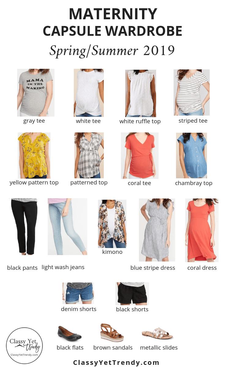 spring/summer maternity clothing ideas