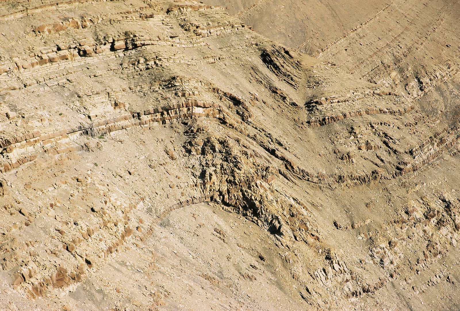 Cretaceous Tres Pasos Formation cross cut by Miocene intrusions (©2009 clasticdetritus.com)