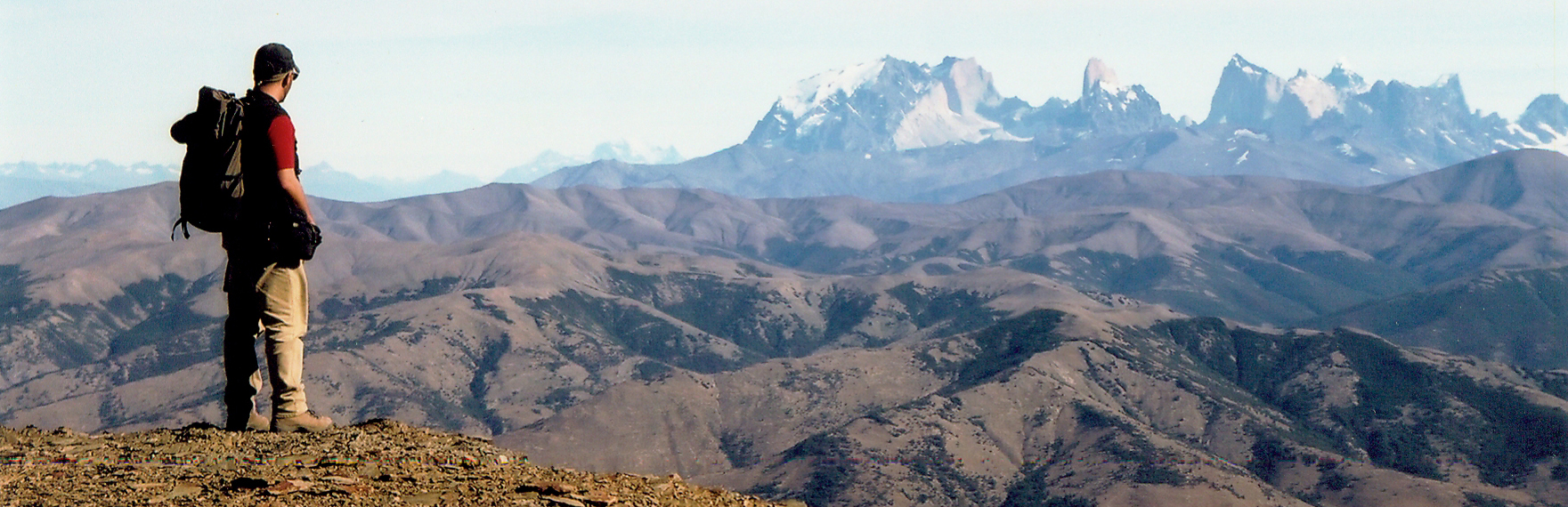 View of Paine Massif from Cerro Divisadero, southern Chile