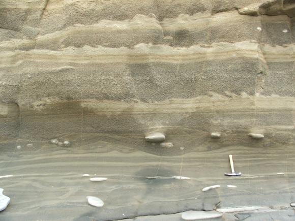 Miocene sedimentary rocks, Tierra del Fuego (© 2009 clasticdetritus.com)