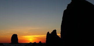 Clatsop Couny Sunset Viewing Cannon Beach by Eli Duke