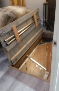 Wild Roots Astoria Flavel building trapdoor