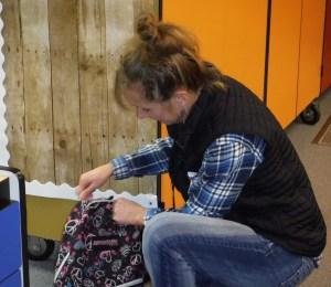 Gretchen Corbin Delivers School Backpacks