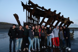 Theresea Petersen Exchange Students visiting the Peter Iredale