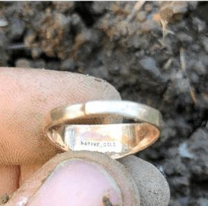 Tested 18 Karat Gold Ring